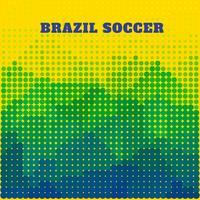 design de futebol do brasil vetor