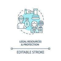 recursos legais e ícone do conceito de proteção