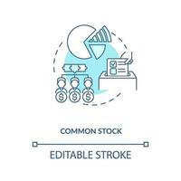 ícone de conceito de estoque comum vetor