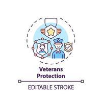 ícone do conceito de proteção de veteranos