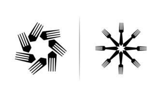 ilustração do vetor do design do ícone do logotipo do garfo