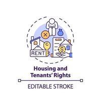 ícone do conceito de direitos de habitação e inquilinos