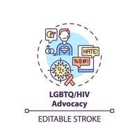 ícone do conceito de defesa de HIV e lgbtq