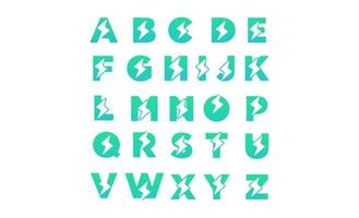 vetor de modelo de design de logotipo az inicial elétrica