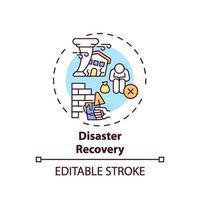 ícone do conceito de recuperação de desastres