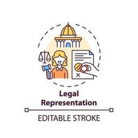 ícone do conceito de representação legal