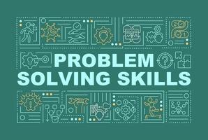 habilidades de resolução de problemas impulsionam banner de conceitos de palavras vetor