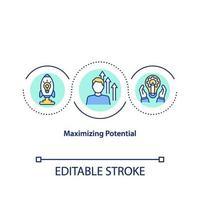 maximizando o ícone do conceito potencial vetor