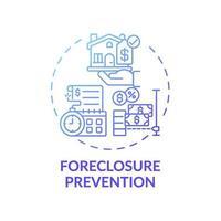 ícone do conceito de prevenção de execução hipotecária