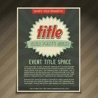 design de flyer de evento vetor