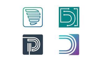 modelo de vetor de design de inspiração de logotipo inicial d