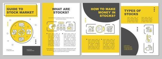 guia para modelo de folheto do mercado de ações vetor