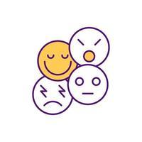 ícone de cor rgb inteligência emocional vetor