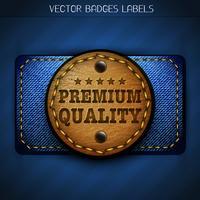 etiqueta de couro de jeans vetor