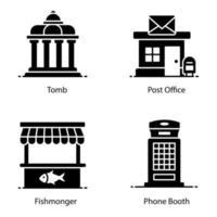 ícones imobiliários e de construção vetor
