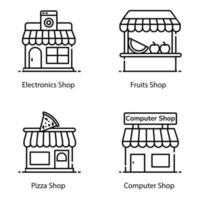 ícones de construção e arquitetura vetor