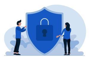 escudo de proteção de dados vetor