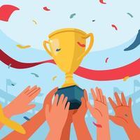 design de celebração do campeão uefa vetor