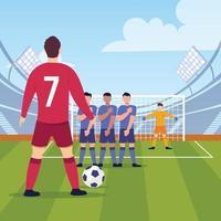 partida de futebol uefa vetor
