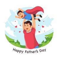 feliz festa do dia dos pais vetor