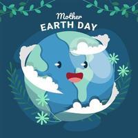 conceito de design do feliz dia da terra vetor