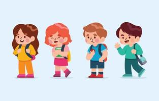 conjunto de personagens infantis vetor