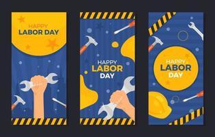 coleção de banners do dia do trabalho vetor