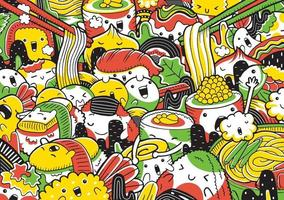 ilustração vetorial de comida japonesa vetor