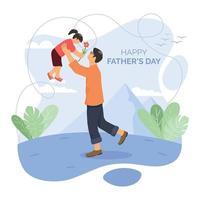 celebrando o conceito de design do dia dos pais vetor