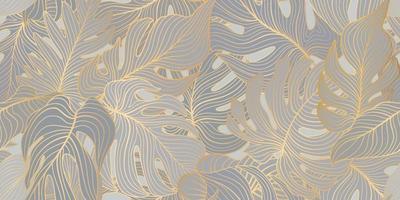 padrão floral sem costura com folhas tropicais vetor