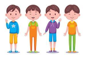 ilustração de menino fofo crianças vetor