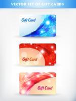 cartão de presente brilhante vetor