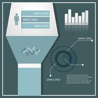 ilustração elegante infográfico vetor