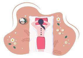 ilustração vetorial de massagem em salão de beleza vetor