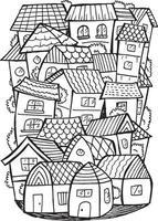 ilustração do doodle da cidade vetor