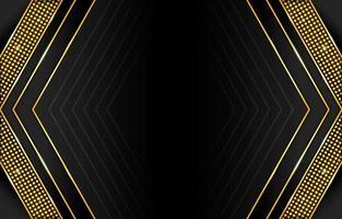 fundo abstrato gradiente preto e dourado vetor