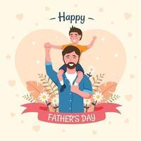 pai carregando crianças no dia dos pais vetor