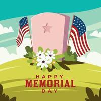 ilustração do dia do memorial dos EUA vetor