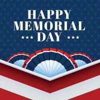 fundo dos EUA do dia do memorial vetor