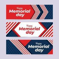 banners do dia da memória dos EUA vetor
