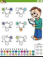 página de planilha educacional de cálculo matemático vetor