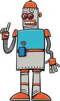 personagem de quadrinhos de fantasia de robô de desenho animado vetor