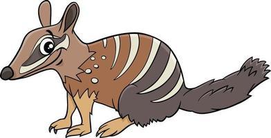 desenho animado numbat personagem animal em quadrinhos vetor