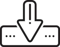 ícone de linha para download vetor