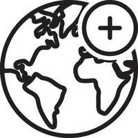 ícone de linha para adicionar vetor