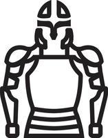 ícone de linha para armadura vetor