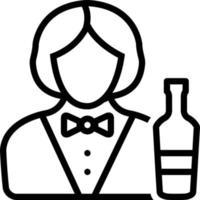 ícone de linha para bartender vetor