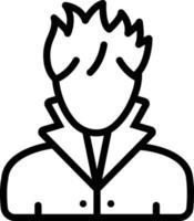 ícone de linha para cabelo vetor