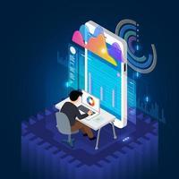 análise de dados móvel vetor