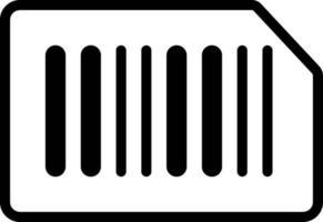 ícone de linha para código de barras vetor
